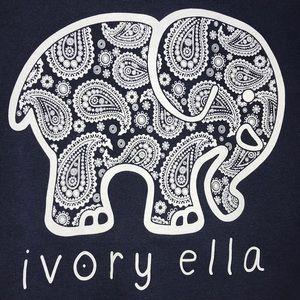 6b2b51abd1a4d ivory ella Tops - Long Sleeve Navy Blue Ivory Ella Logo Shirt